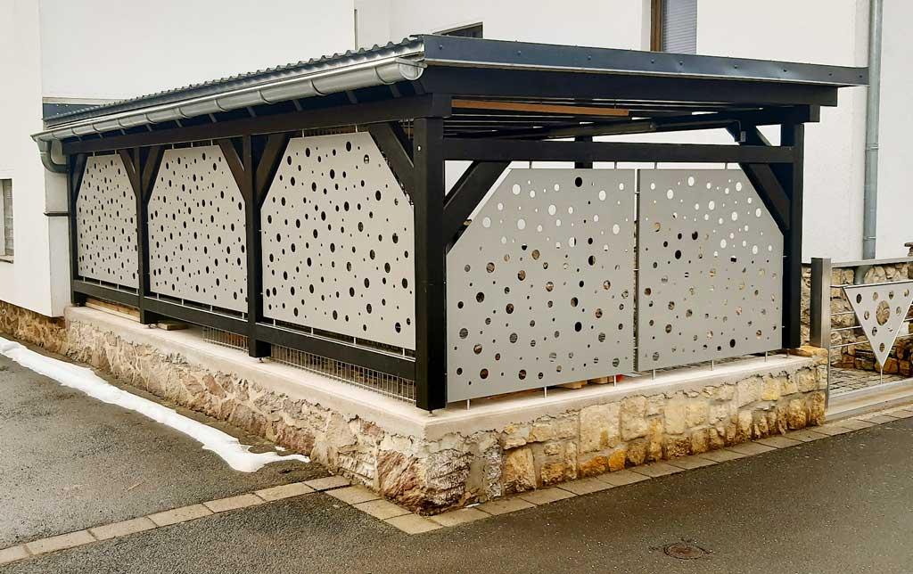 Carportverkleidung aus Aluminium