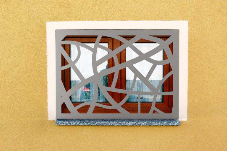Fensterschutzgitter aus Edelstahl