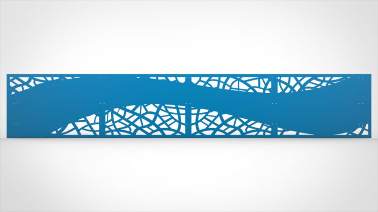 Geländerfüllung Lochblech pulverbeschichtet blau