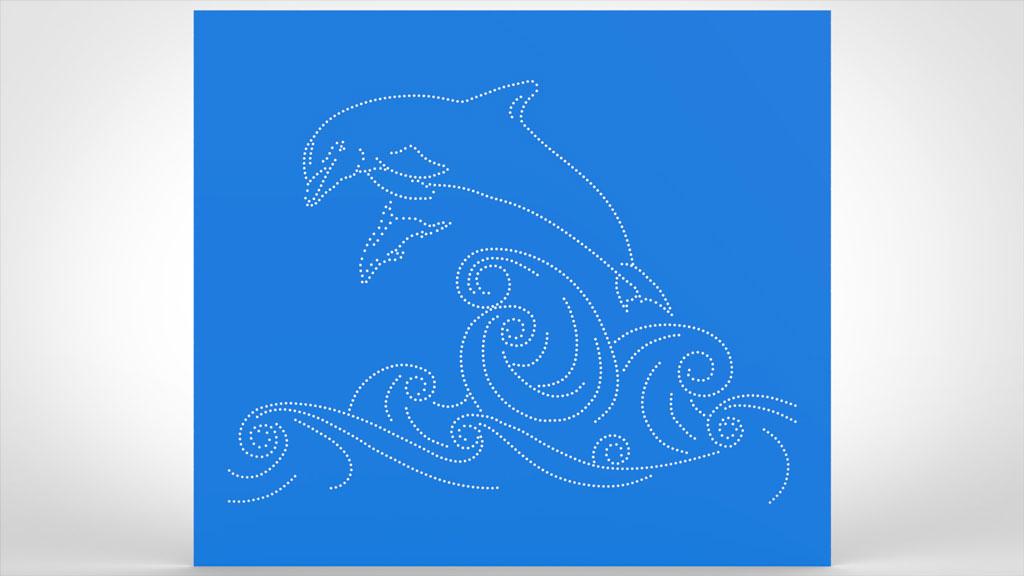 Motivlochblech Welle Delphi Schwimmbad