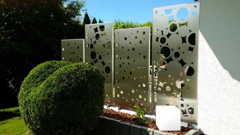 Sichtschutzwand, Sichtschutz für Terrasse aus Edelstahl