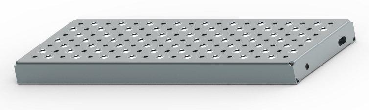 Treppenstufen aus Metall, Lochblechstufen