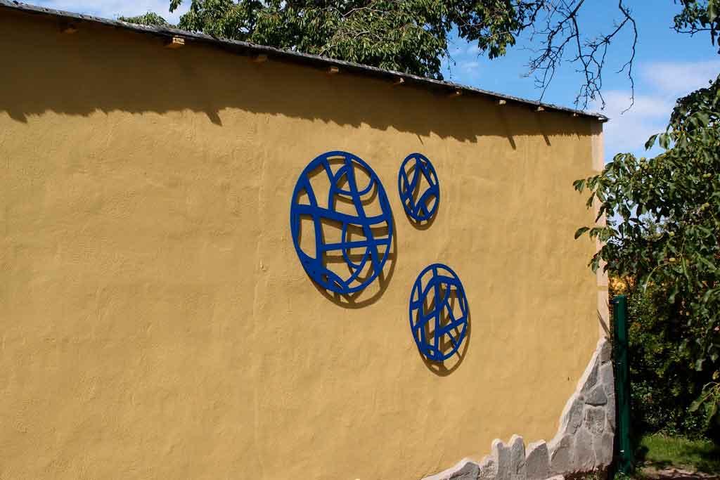 Fassadenschmuck, Wanddekoration Metall modern