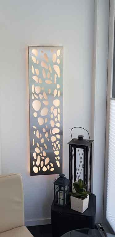 Wanddekoration modern aus Metall
