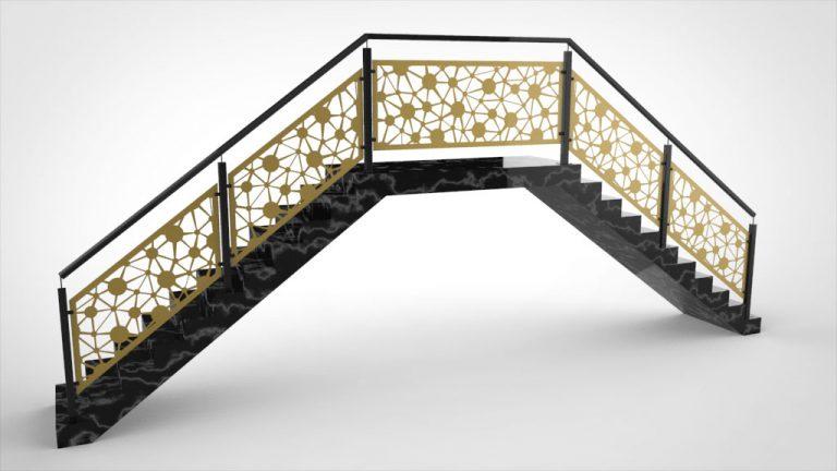 Treppengeländer Alu gold eloxiert